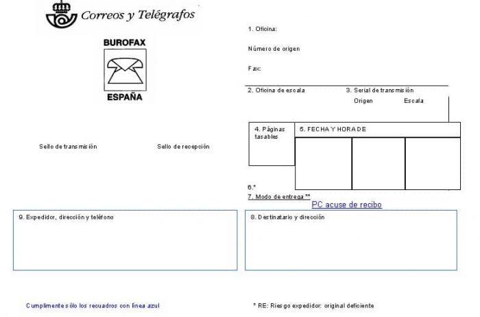 ejemplo burofax correos españa